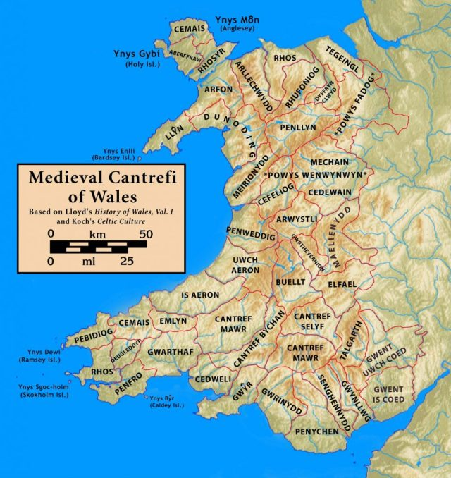 Ancient map of Wales
