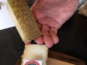 Sheep cheese rind