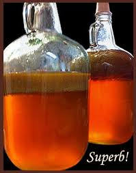 Keeved Cider - note the brown cap.