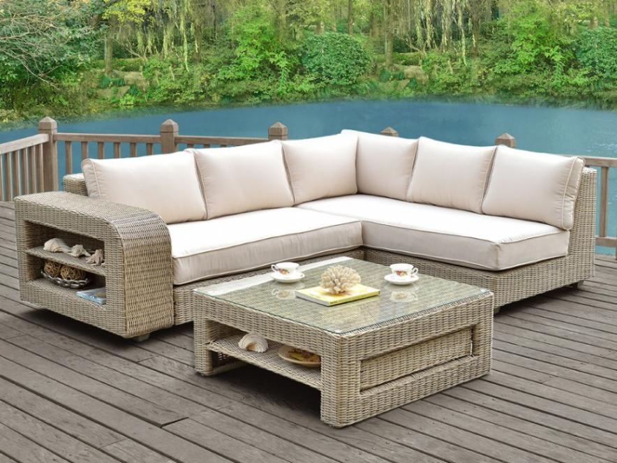 Destockage Salon De Jardin Resine Tressee Novocom Top