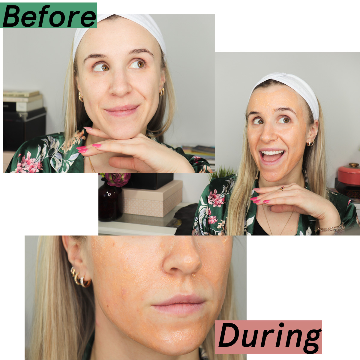 Pixi Mask Before and During