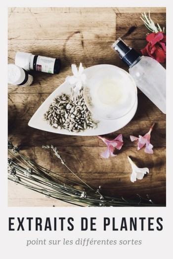 les différents extraits de plantes utilisables en cosmétique naturelle ciel citron blog beauté naturelle