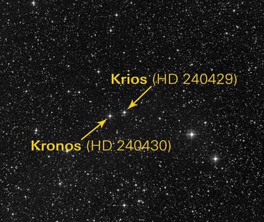 Kronos (HD 240430) e la sua compagna Krios (HD240429)
