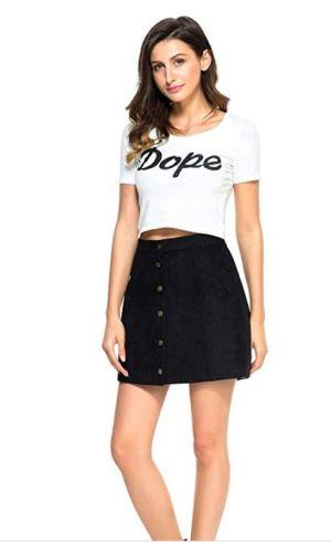 Black Button skirt