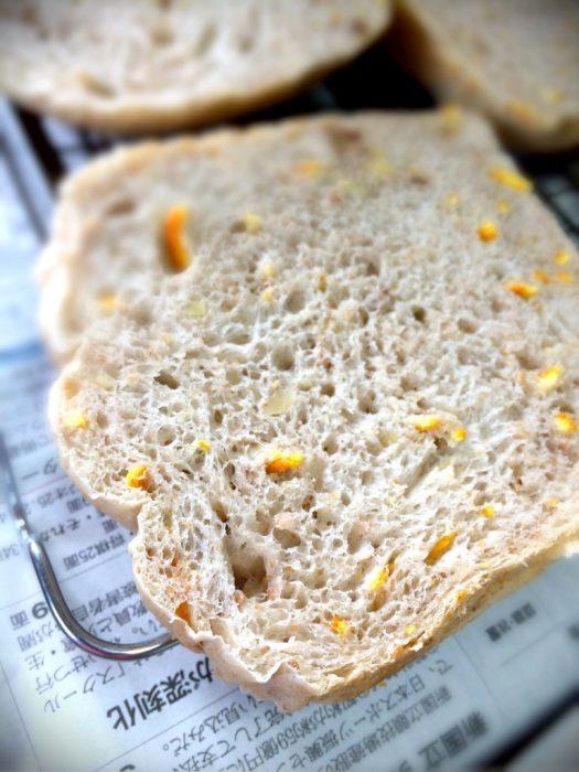 陳皮を練り込んだパン