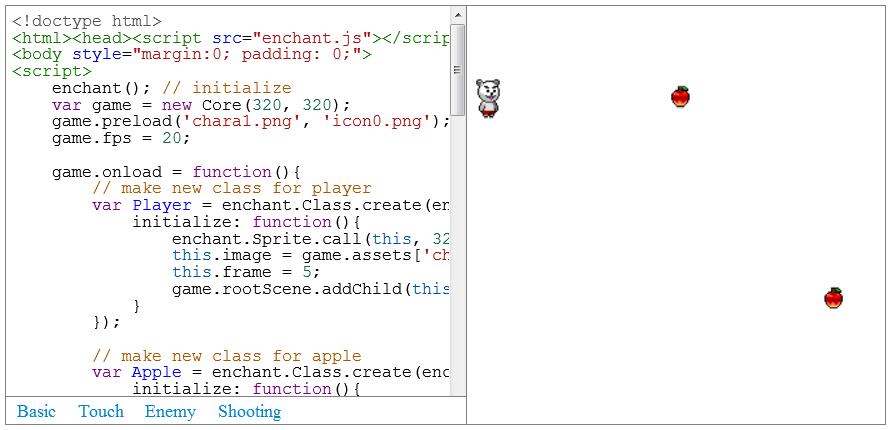 Enchant.js - Criação de jogos e aplicativos