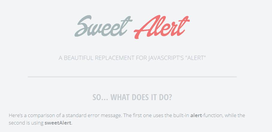 Sweet Alert para Bootstrap