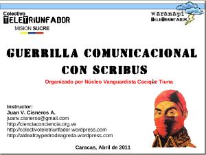 Guerrilla Comunicacional con Scribus