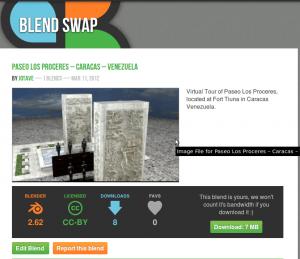 "Blender ""Paseo Los Próceres"" - Blend Swap"