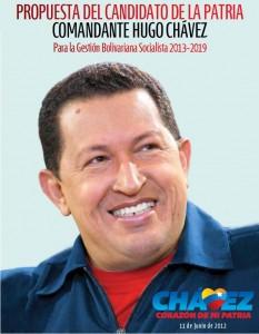 propuesta gobierno candidato chavez 2013 - 2019