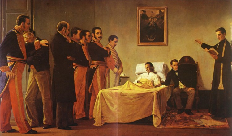 ültimas palabras de Bolívar - San Pedro Alejandrino