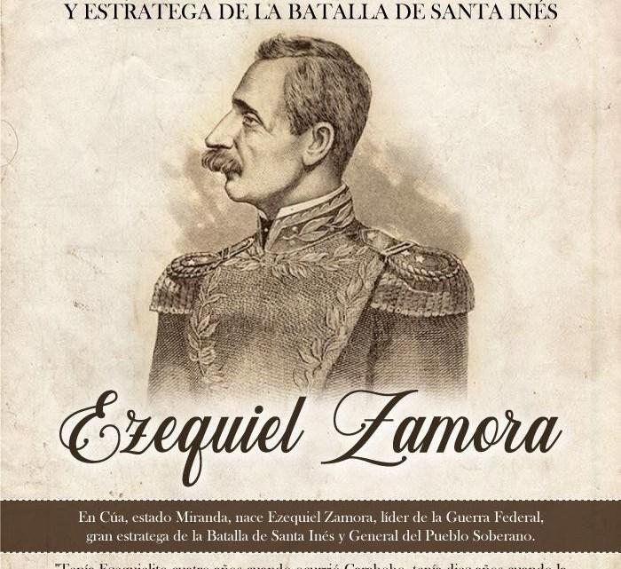 Natalicio del general del Pueblo Ezequiel Zamora – 1 de Febrero de 1817