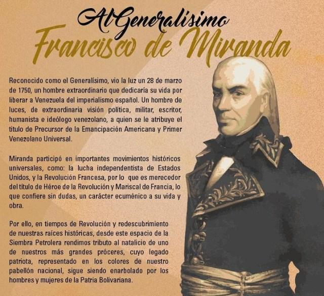Natalicio Francisco de Miranda