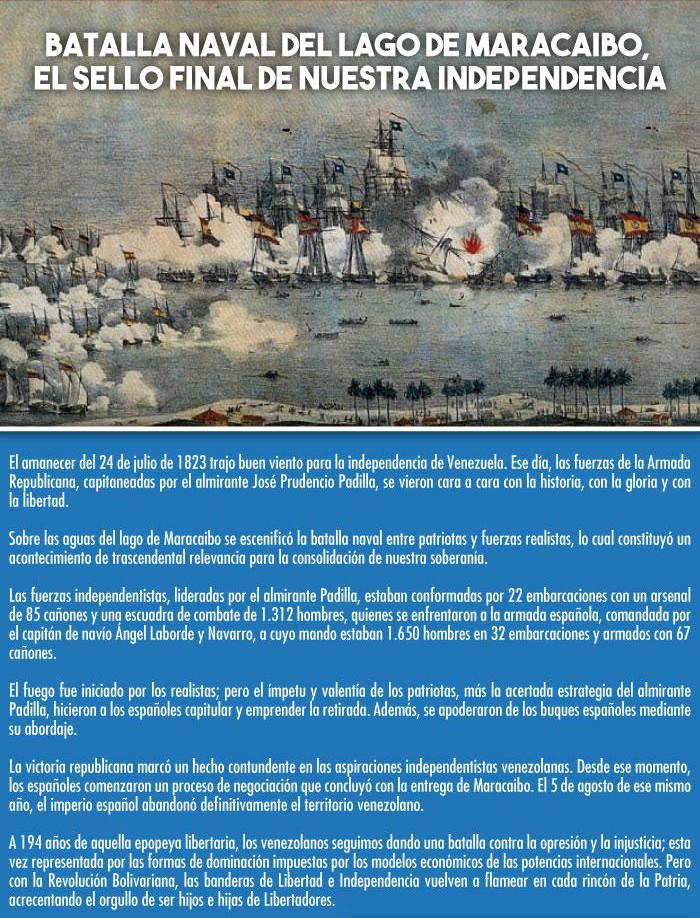 batalla naval lago maracaibo venezuela