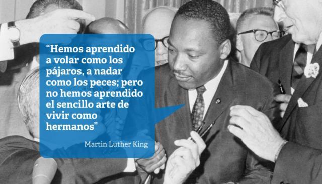 La historia del genio científico y Martin Luther King