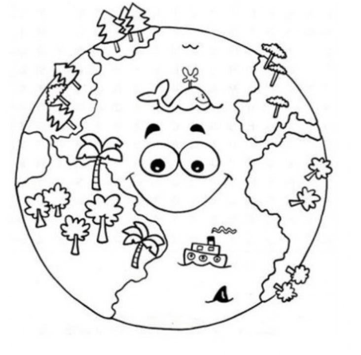 planetas para colorear en casa niños y niñas