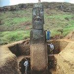 ¿Quién construyó las estatuas de la isla de Pascua?