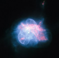 The NASA/ESA Hubble Space Telescope has taken a striking high resolution image of the curious planetary nebula NGC 6210. Located about 6500 light-years away, in the constellation of Hercules, NGC 6210 was discovered in 1825 by the German astronomer Friedrich Georg Wilhelm Struve. Although in a small telescope it appears only as a tiny disc, it is fairly bright. NGC 6210 is the last gasp of a star slightly less massive than our Sun at the final stage of its life cycle. The multiple shells of material ejected by the dying star form a superposition of structures with different degrees of symmetry, giving NGC 6210 its odd shape. This sharp image shows the inner region of this planetary nebula in unprecedented detail, where the central star is surrounded by a thin, bluish bubble that reveals a delicate filamentary structure. This bubble is superposed onto an asymmetric, reddish gas formation where holes, filaments and pillars are clearly visible. The life of a star ends when the fuel available to its thermonuclear engine runs out. The estimated lifetime for a Sun-like star is some ten billion years. When the star is about to expire, it becomes unstable and ejects its outer layers, forming a planetary nebula and leaving behind a tiny, but very hot, remnant, known as white dwarf. This compact object, here visible at the centre of the image, cools down and fades very slowly. Stellar evolution theory predicts that our Sun will experience the same fate as NGC 6210 in about five billion years. This picture was created from images taken with Hubble's Wide Field Planetary Camera 2 through three filters: the broadband filter F555W (yellow) and the narrowband filters F656N (ionised hydrogen), F658N (ionised nitrogen) and F502N (ionised oxygen). The exposure times were 80 s, 140 s, 800 s and 700 s respectively and the field of view is only about 28 arcseconds across.