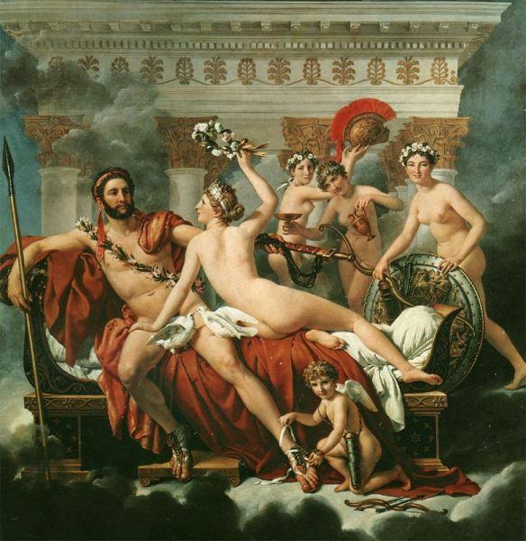 «Marte desarmado por Venus y las Gracias», Jaques-Louis David. Museos reales de Bellas Artes de Bélgica (Bruselas, Bélgica).