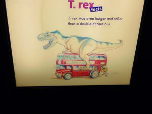 Muzeum Historii Naturalnej: T-Rex na double deckerze. So awesome!