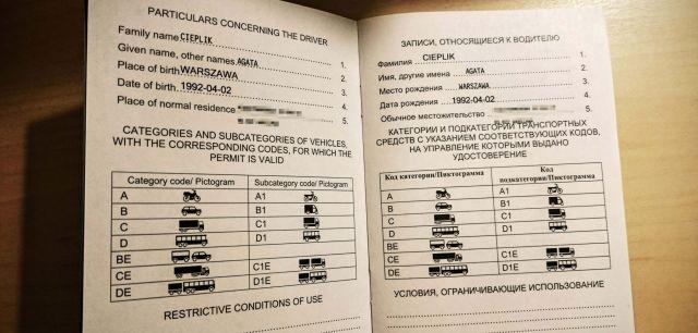 Tak w środku wygląda międzynarodowe prawo jazdy!