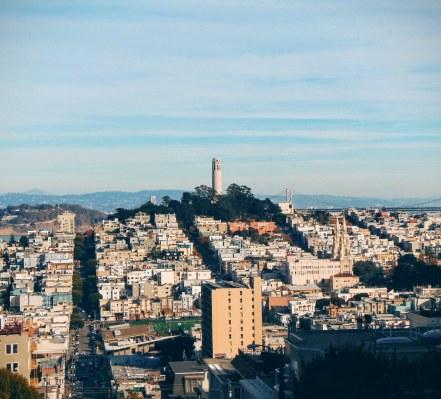 Widok na SF i Coit Tower