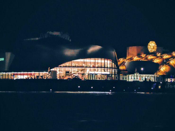 Kulturalna część portu w Hamburgu