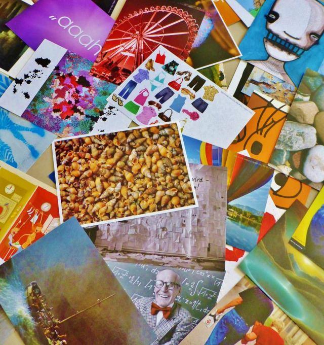 Kolaż z pocztówek to prezent, o którym obdarowany nie zapomni przez długi czas