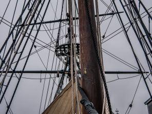 Statek, na którym przebywamy, został wykonany na podstawie rzeczywistych planów statków z lat 1770