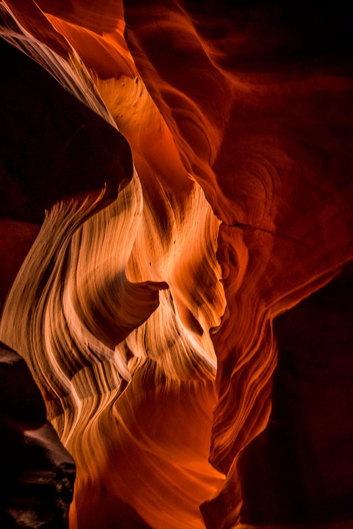 Płomienny kanion z rana
