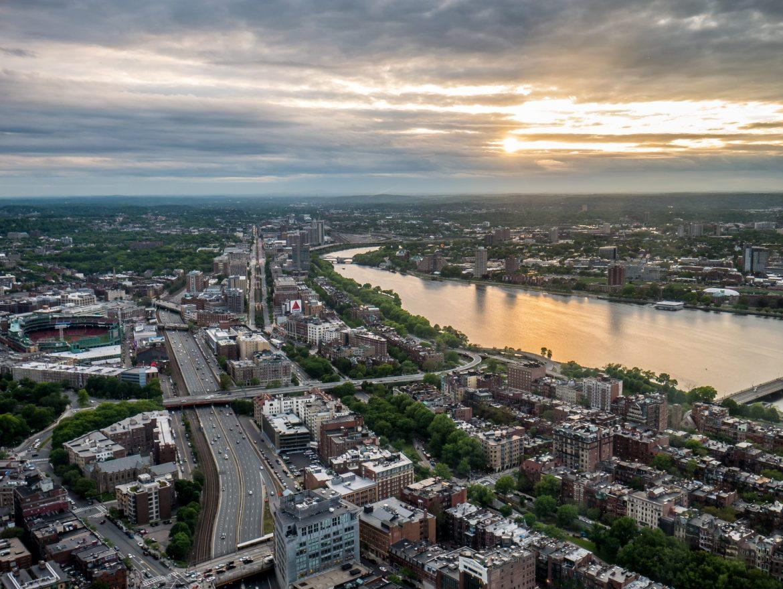 Boston - zachód słońca z Prudential Tower