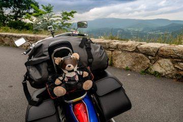 Motocykl - już w podróży po spakowaniu :)