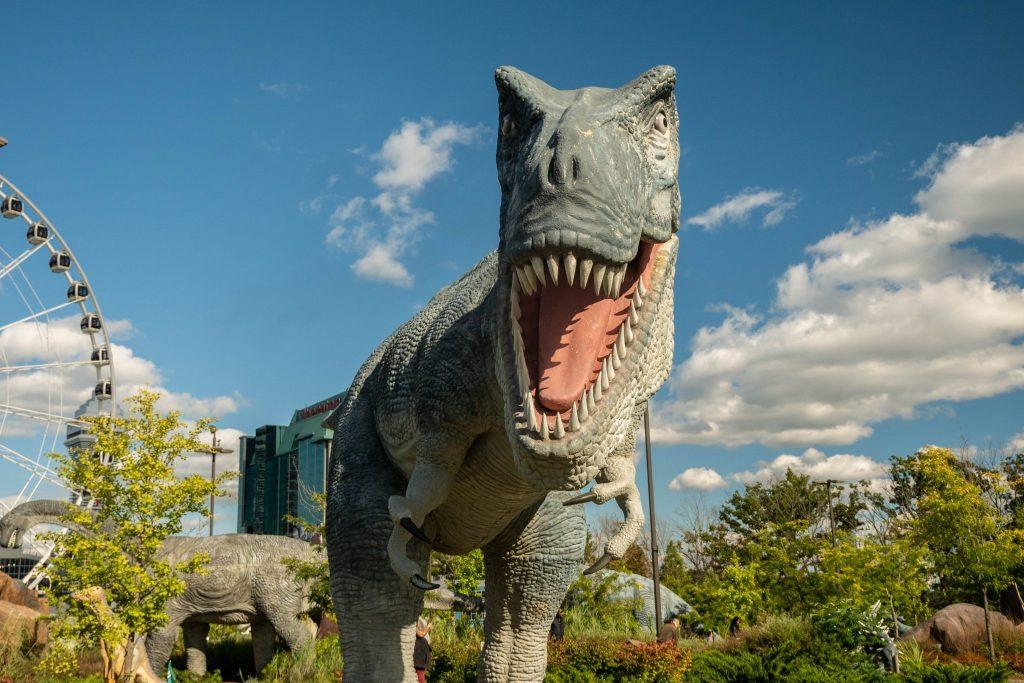Dinozaury w Niagara Falls w Kanadzie