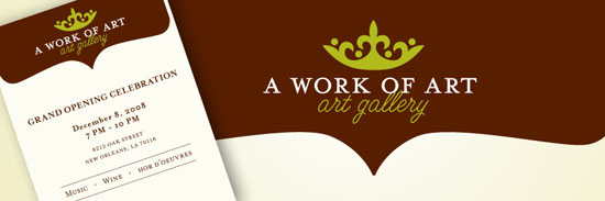 A Work of Art Gallery Identity