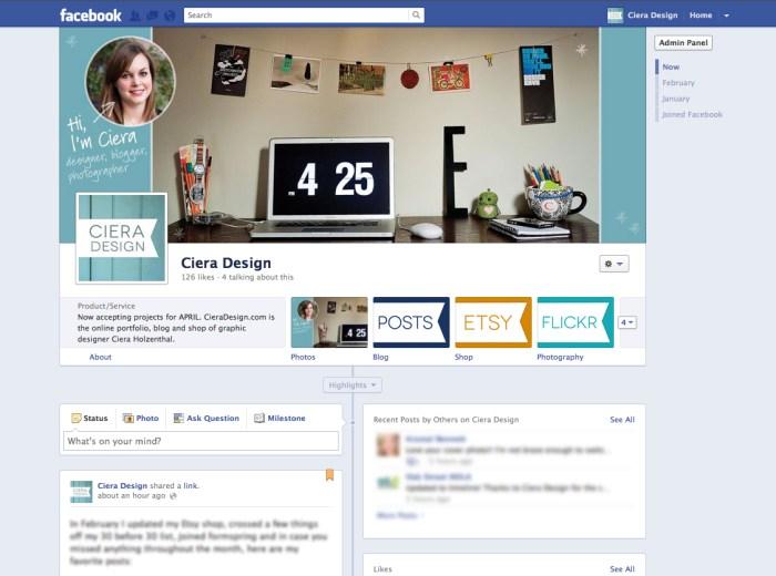Design Tips – Facebook Timeline for Pages