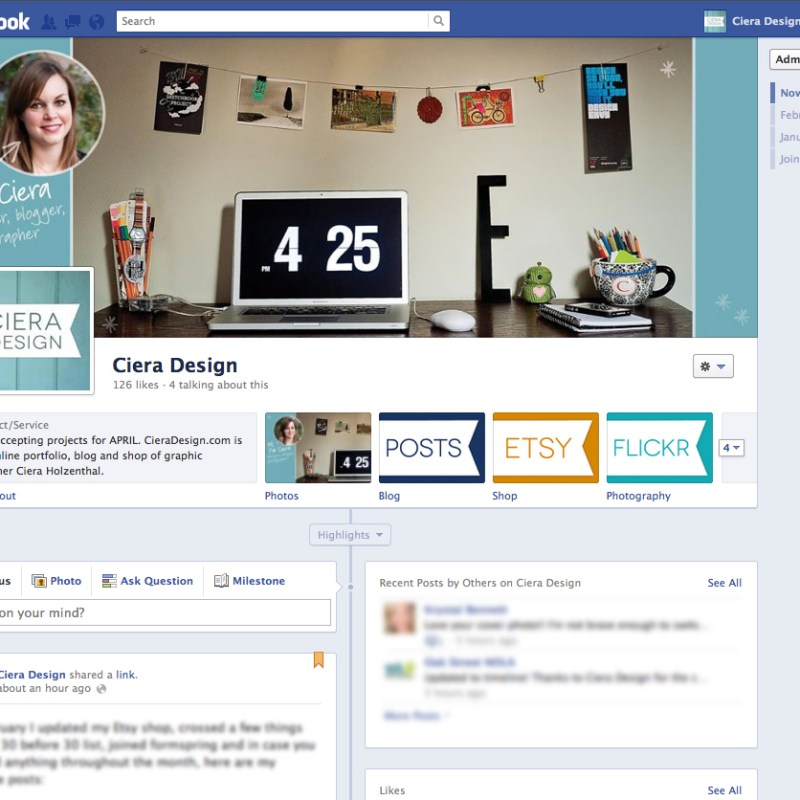 Design Tips – Facebook Timeline for Pages