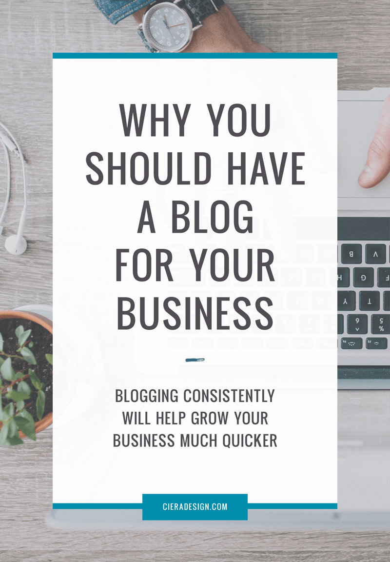 Blogging consistently will help grow your business much quicker