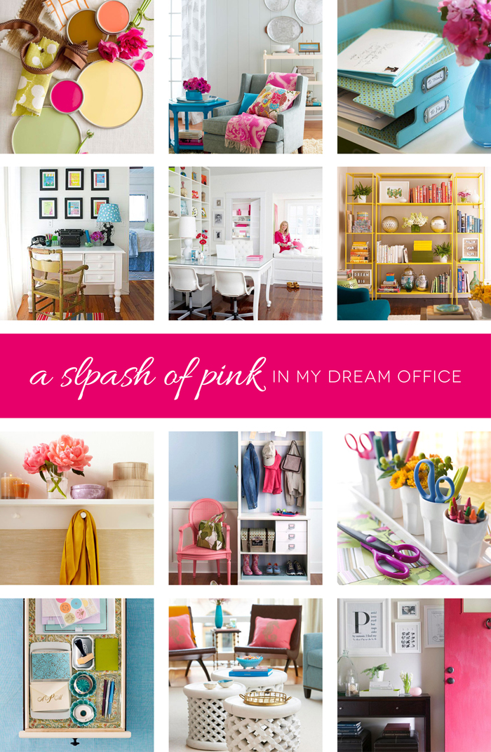 A Splash of Pink in My Dream Office