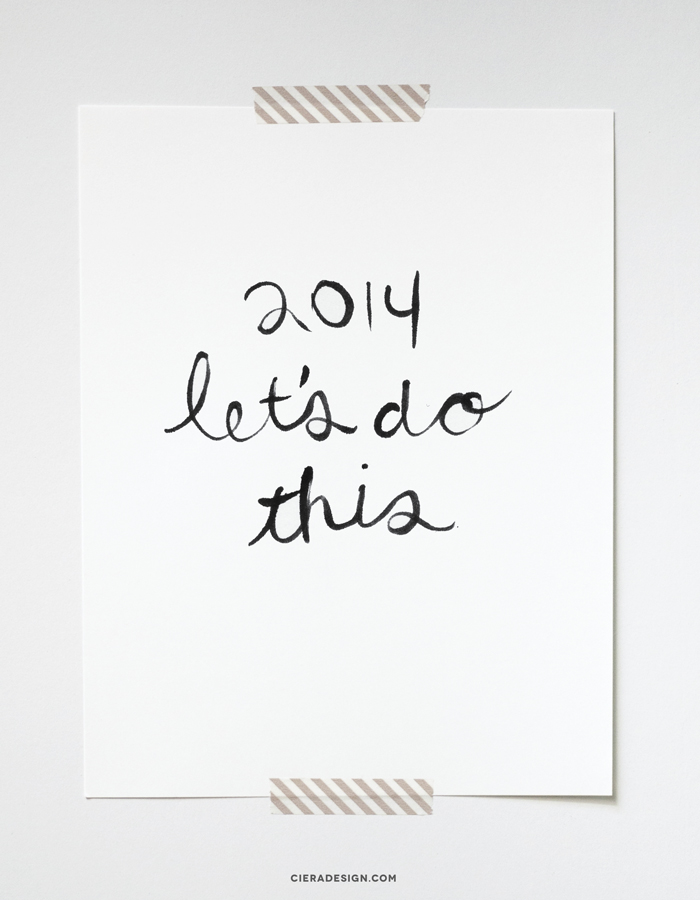 Let's Do This Hand Lettered Art Print