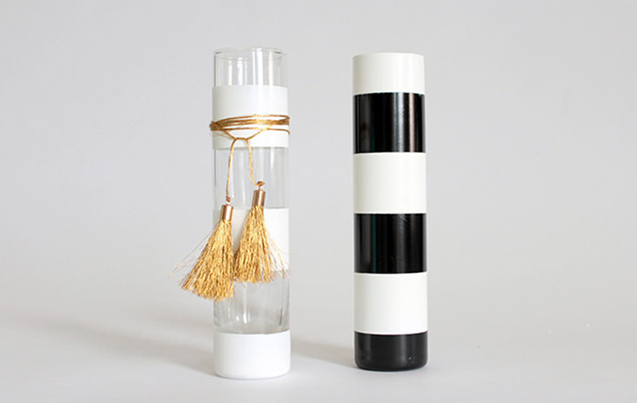 Gold White Black Tassel Chic Vase DIY