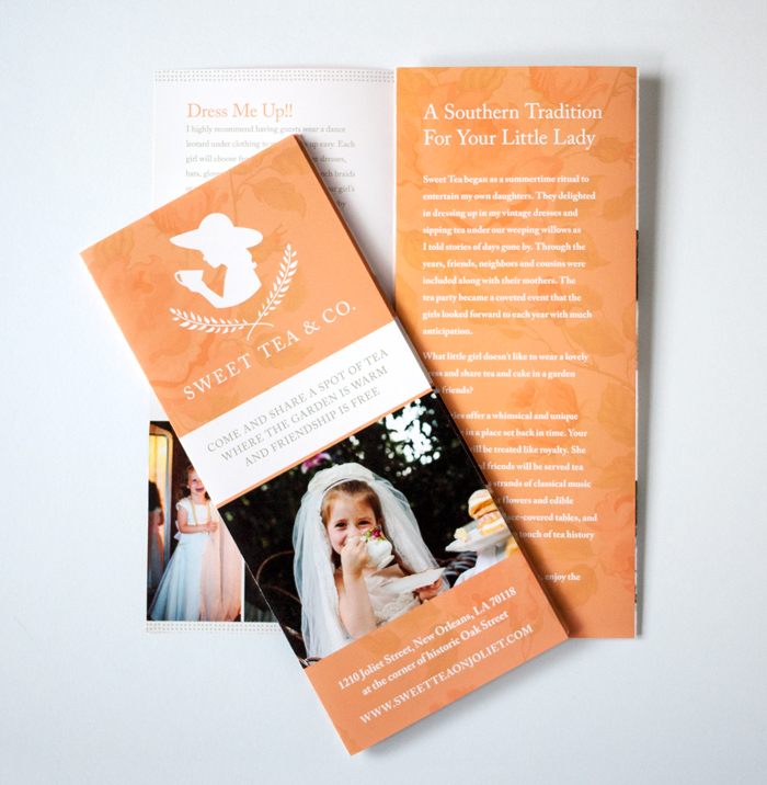 Sweet Tea Tri Fold Brochure Design