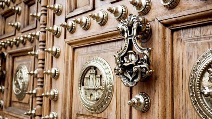 Barcelona-Spain-Gold-Door-Detail