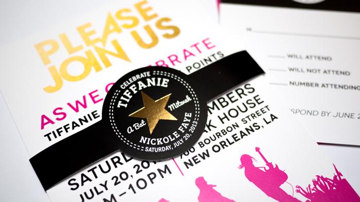 13ffaf14e03d Rock Band   Converse Themed Event and Invitation Design