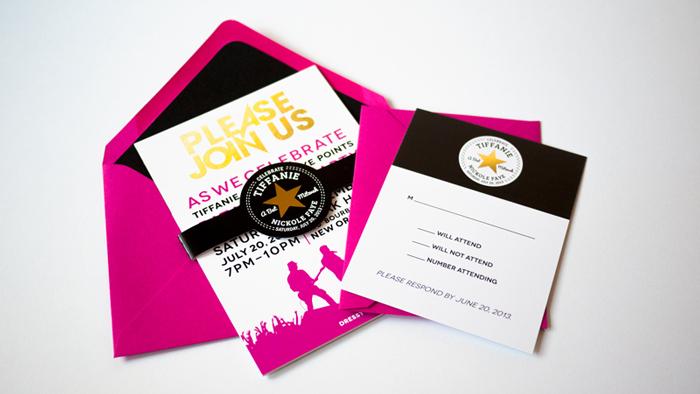 Bat Mitzvah Invite Lined Envelopes Ciera Design