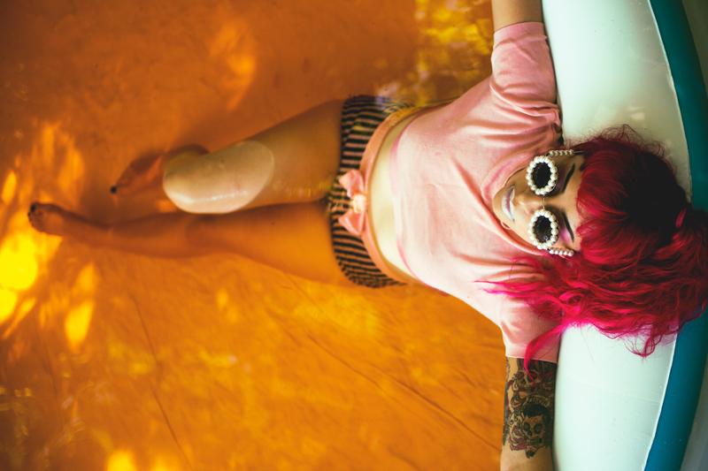 orange water vintage goddess