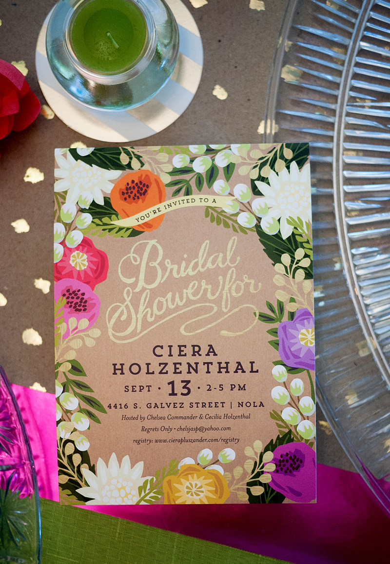 Cieras tropical bridal shower bridal shower floral canopy invitation from minted filmwisefo