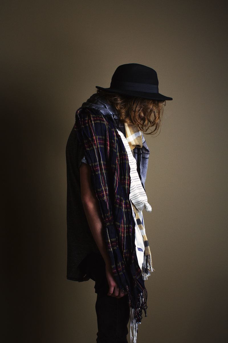 Man With Layered Scarf