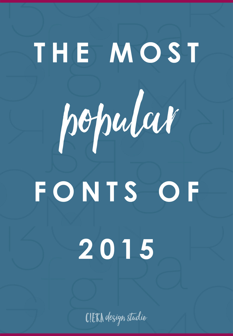 the most popular font releases in 2015