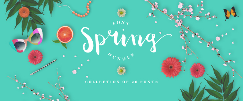 What an incredible bargain for only $20. This bundle will be available for a limited time only until April30th. Grab the Spring Fonts Bundle today and save a huge $280.