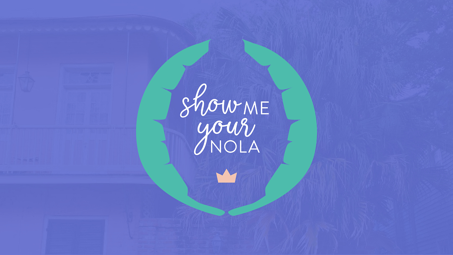 a clean, simple and chic logo that also expresses the fun, whimsy and magic of New Orleans